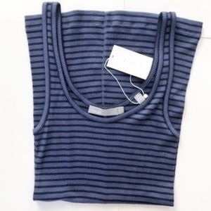 VINCE Favorite Striped Ribbed Tank Small